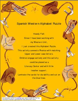 Spanish Texas Alphabet Puzzle