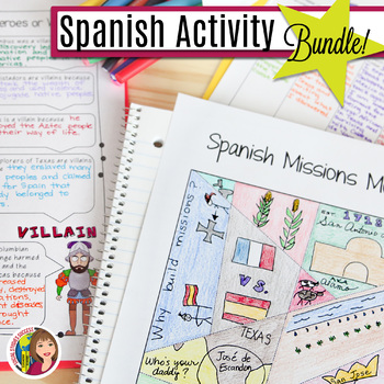 SPANISH TEXAS ACTIVITY BUNDLE including ELL MODIFICATIONS