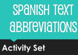 Spanish Text Abbreviations Activity