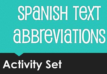 Spanish Text Abbreviations Activity