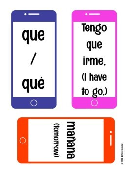 Spanish Text Abbreviations Bulletin Board Set