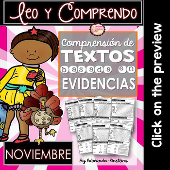 Spanish Text Based Evidence Reading Passages for NOVEMBER