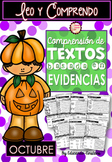 Spanish Text Based Evidence Reading Passages for October