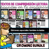 **GROWING BUNDLE***Spanish Text Based Evidence Reading Passages For the Year