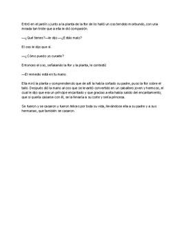 Spanish Text - El Principe Oso