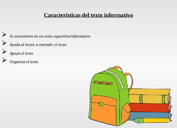 Spanish Text Features Caracteristicas del Texto
