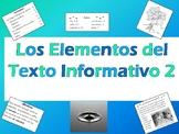 Spanish Text Features Quiz 2 - Examen de los Elementos del Texto Informativo 2