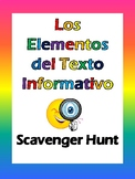 Spanish Text Features Scavenger Hunt - Elementos del Texto Informativo