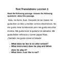 Spanish Text Translation Exercise 2