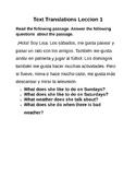 Spanish Text Translation Exercise 3