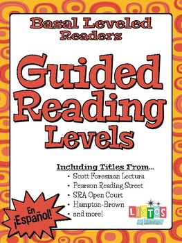 Spanish Textbook Readers Guided Reading Levels