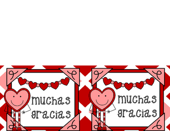 Spanish Thank You Notes {Valentine's Day/Hearts}