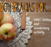 Spanish Thanksgiving ABC Activity, Doy gracias, Día de acc