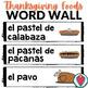 Spanish Thanksgiving Activities - Thanksgiving Food Bundle