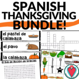 Spanish Thanksgiving Activities - Bundle of Spanish Food A