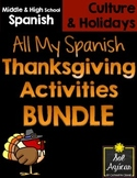 Spanish Thanksgiving - All my activities - BUNDLE
