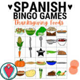 Spanish Thanksgiving Bingo Game - Thanksgiving Foods - La Comida