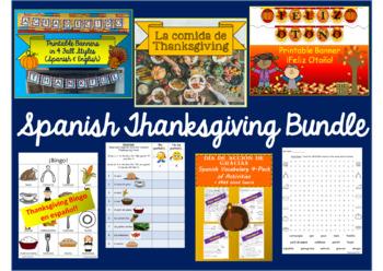 Spanish Thanksgiving / Fall Bundle!  Día de Acción de Gracias y Otoño