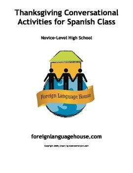 Spanish Thanksgiving Conversational Activities Grades 7-12