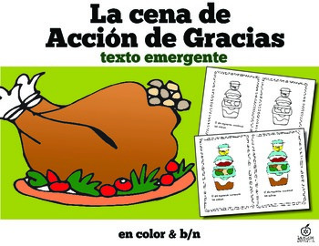 Spanish Thanksgiving Dinner Emergent Reader