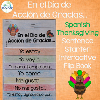 Spanish Thanksgiving Interactive Flip Book