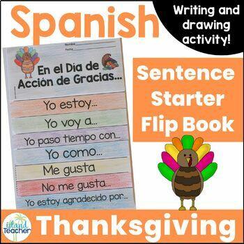 Spanish Thanksgiving Interactive Flip Book