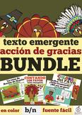 Spanish Thanksgiving Emergent Reader Bundle
