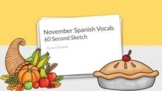 Spanish Thanksgiving Game {60 Second Sketch}