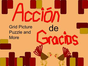 Spanish Thanksgiving Grid Puzzle and Word Search