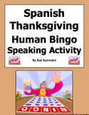 Spanish Thanksgiving Human Bingo Game Speaking Activity