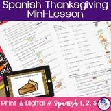 Spanish Thanksgiving Mini-Lesson
