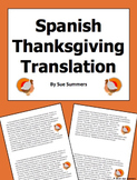 Spanish Thanksgiving Paragraph Translation Doy las Gracias Por...