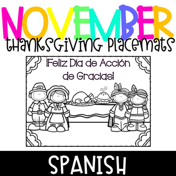 Spanish Thanksgiving Placemats