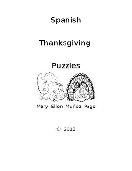 Spanish Thanksgiving Puzzles (4) revised