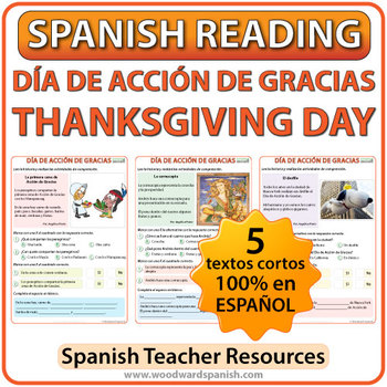 Spanish Thanksgiving Reading - Día de Acción de Gracias