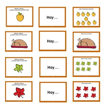 Spanish Thanksgiving Set: Guessing Book, Number Flash Cards and Coloring Book
