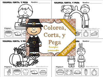 Spanish: Thanksgiving Speech Therapy - Receptive & Expressive Language Pack