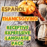 Spanish: Thanksgiving Speech Therapy - Receptive & Express