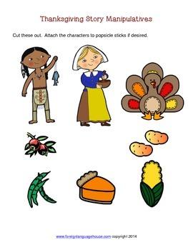 Spanish Thanksgiving Story for Elementary