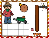 Spanish Thanksgiving Ten Frame Counting Mats:  Autumn Ten Frames