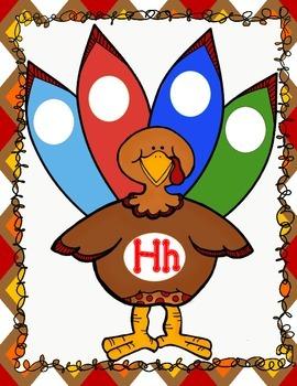 Thanksgiving Turkey Sorting Mats:  El Alfabeto, los sonidos.