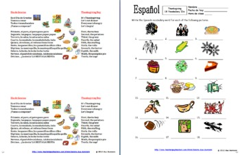Spanish Thanksgiving Bundle - El Dia de Accion de Gracias