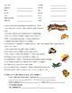 Spanish Thanksgiving Vocabulary List with Menu