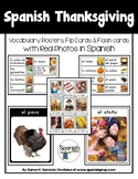 Spanish Thanksgiving Vocabulary Posters & Flashcards with