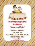 Thanksgiving Math Activity | Spanish Word Problems | Solve