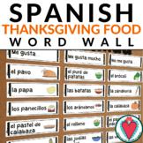 Spanish Thanksgiving Word Wall - El Dia de Accion de Gracias