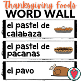Spanish Thanksgiving Vocabulary - Spanish Food Word Wall
