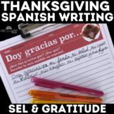 Spanish Thanksgiving Writing - Doy gracias por - I am than