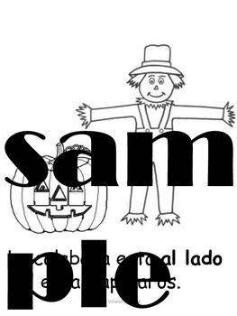 Spanish Thanksgiving big book
