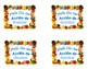 Spanish Thanksgiving card-write a short card to a teacher using adjectivges